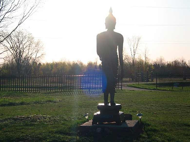 Tisarana Buddha In The Morning Sun